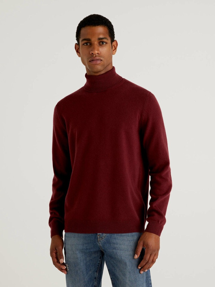 Men's High Neck Sweaters New Collection 2021 | Benetton