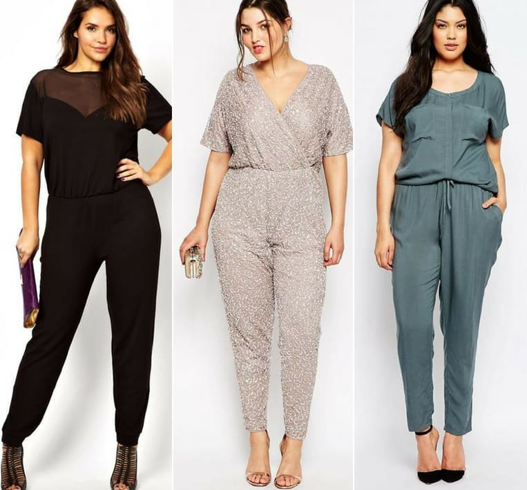 curvy girls jumpsuit outfit