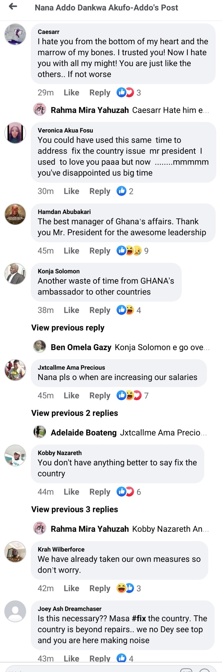 """#FixtheCountry: """"We don't need this address"""" — Ghanaians react to 25th Covid-19 address tonight. 64"""