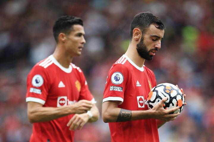 Solskjaer defends Bruno Fernandes taking penalty over Cristiano Ronaldo