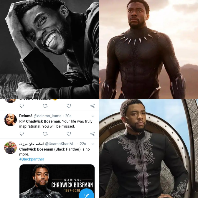 Fans And Actors Pay Tributes To Black Panther Star Chadwick Boseman Who Died Of Cancer Aged 43 Opera News