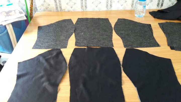 How to make a 6 piece dress. How to make it. Cut each panel out.Valisimo