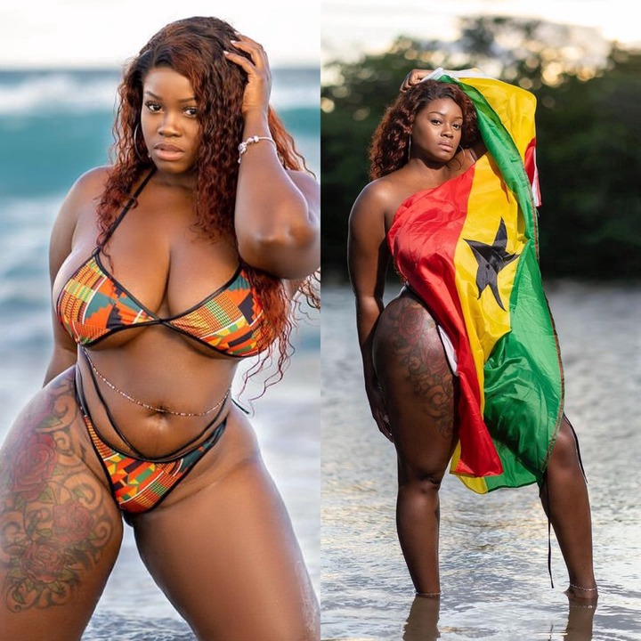 Shapely Model Alberta Serwaa and her Counterpart Chocolate causes issue  with their gift - BLOGPAY