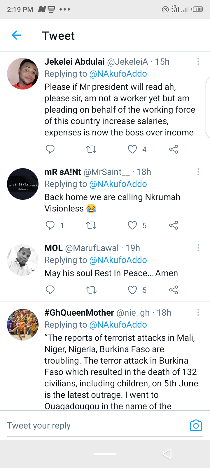 You have forgotten all the promises you made – Ghanaian react to Akufo-Addo's post. 61