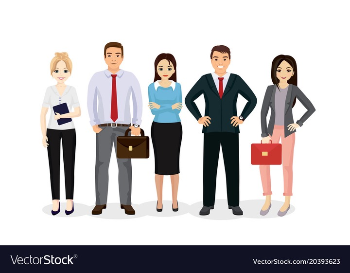 Business people team happy Royalty Free Vector Image