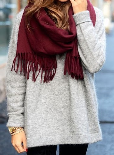 How To Wear A Sweater With A Scarf 2021 | FashionTasty.com
