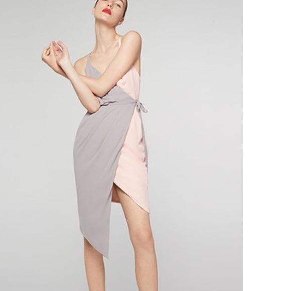two tone wrap dress off 76% - medpharmres.com