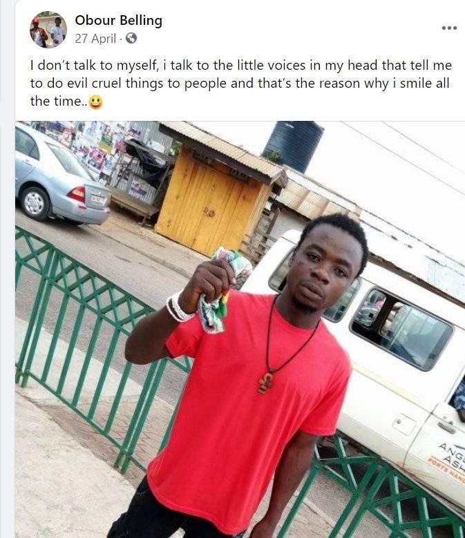 Meet Obour Belling, leader of the gang brandishing guns after the bullion van robbery. 50