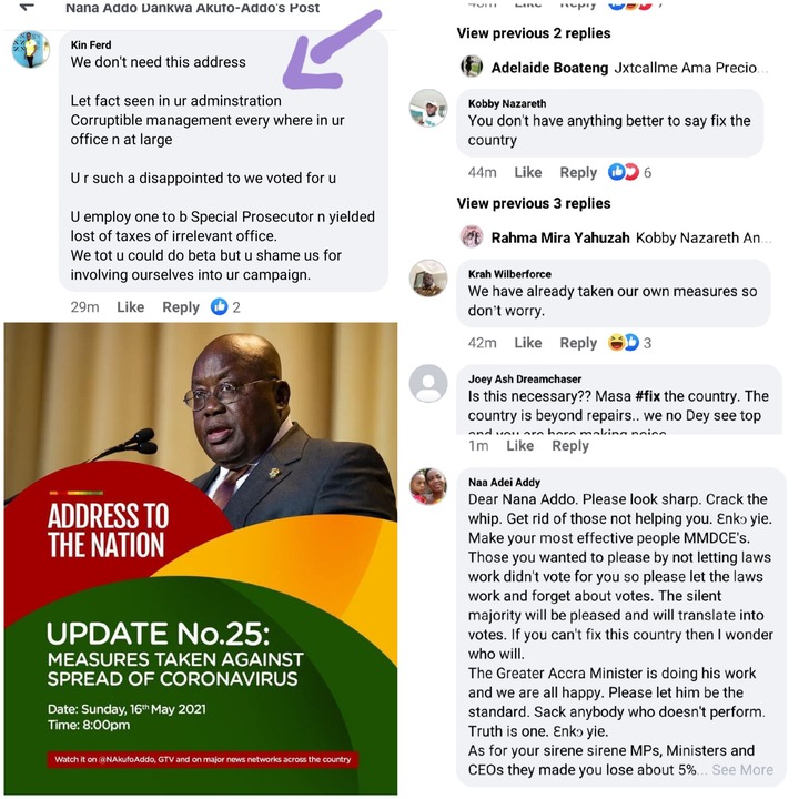 """#FixtheCountry: """"We don't need this address"""" — Ghanaians react to 25th Covid-19 address tonight. 66"""