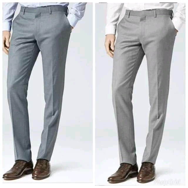 Buy 2 In 1 Men Suit Plain Material Straight Cut Trousers on Ebeosi