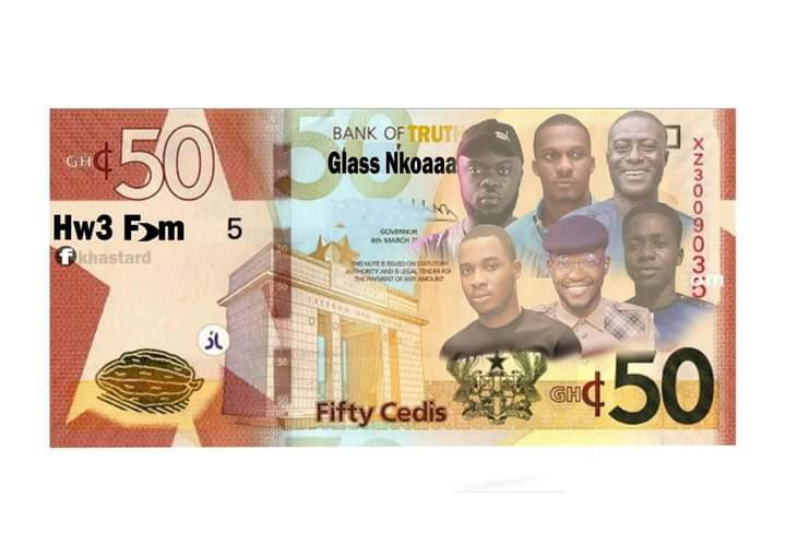 """[Sarcasm] Have you seen the new """"hw3 fom"""" 50 Ghana Cedis Note trending on social media? 49"""