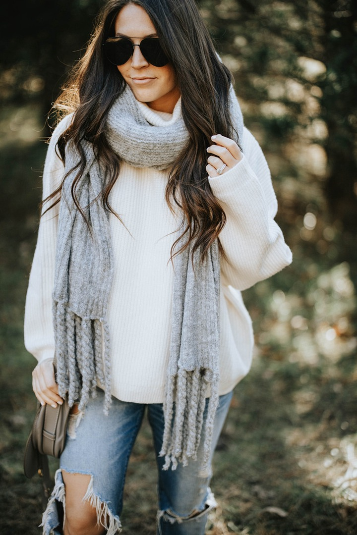 The Perfect Oversized Sweater + Scarf Combo | Pine Barren Beauty