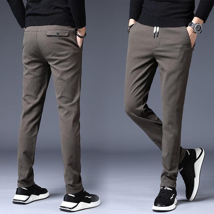 2020 Design Upscale Men Casual Pants Cotton and linen Slim Male Pant  Straight Trousers Business Pants Men Plus Size 38|Casual Pants| - AliExpress
