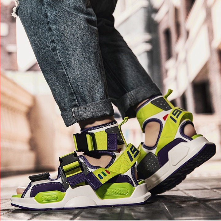 2020 Street Rock Men Sandals Summer Personality Hip Hop Shoes Men Sandals  for Male High Top Sandalias Sandal Slides Rome Sandals Beach & Outdoor  Sandals  - AliExpress