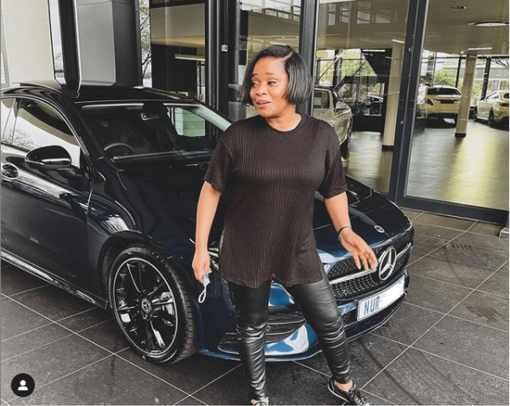 Sthandwa Nzuza and her A200 AMG