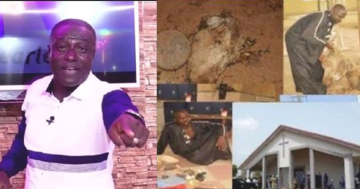 I saw this pastor burying cow head in his church – <a class=