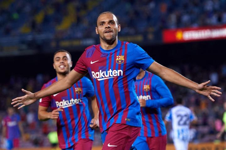 Martin Braithwaite making a case for staying at Barcelona