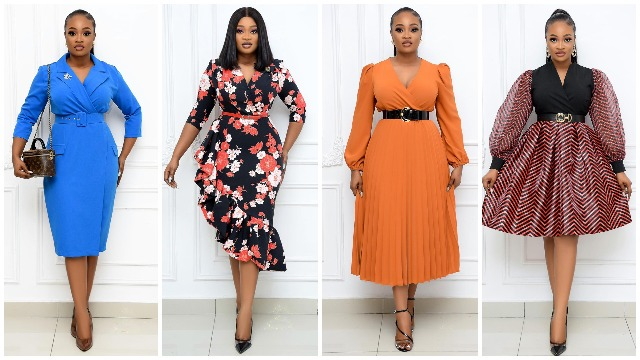 10 Classy Corporate Gown Styles For Work @andriasworld 2021 - OD9JASTYLES