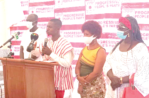 Mr Richard Nii Armah, Executive Director, PPP, addressing the press conference