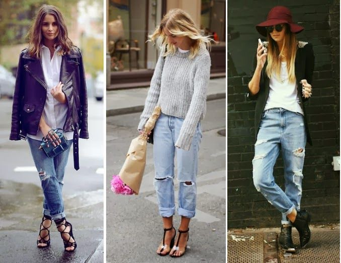More boyfriend jean outfits.   Fall trends outfits, Fashion, September  fashion