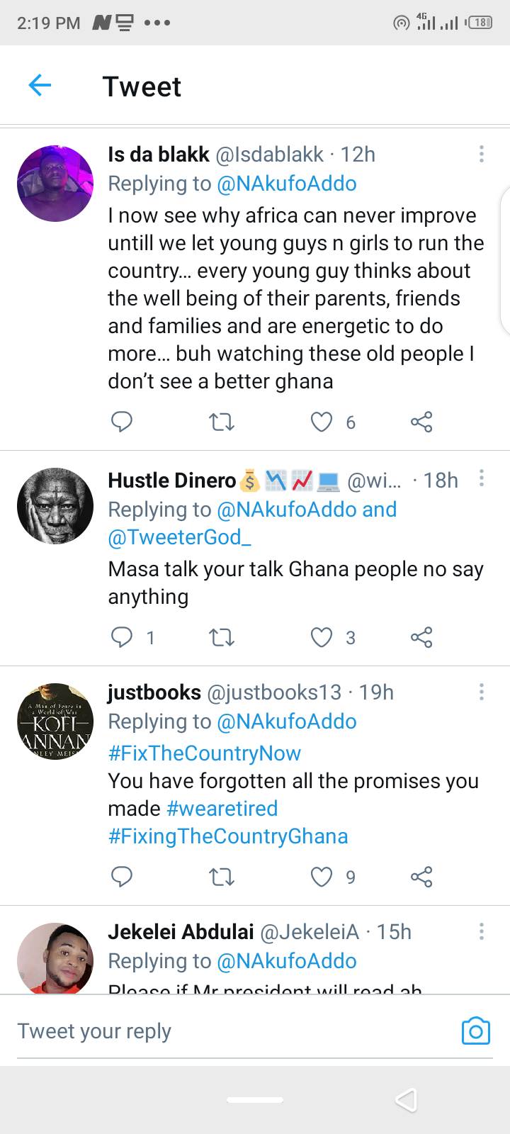 You have forgotten all the promises you made – Ghanaian react to Akufo-Addo's post. 60