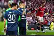 Perbedaan ekspresi Cristiano Ronaldo dan Lionel Messi bersama klub barunya pada laga debut musim ini.