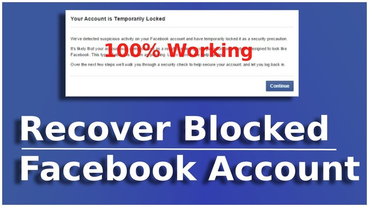 Facebook Account is Temporarily Locked How Do I Unlock It