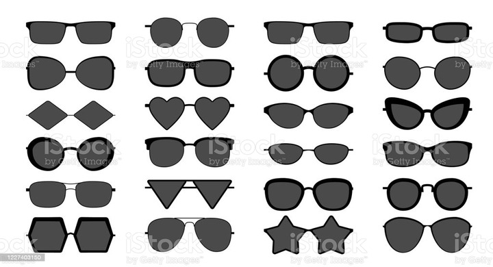 Glasses Silhouette Various Eyeglasses Frames For Men And Women Fashionable  Sunglasses Optical Vision Glasses Of Different Shapes Vector Set Stock  Illustration - Download Image Now - iStock