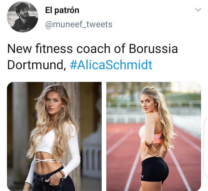 Checkout More Cute Pictures Of Dortmund S New Fitness Coach Opera News