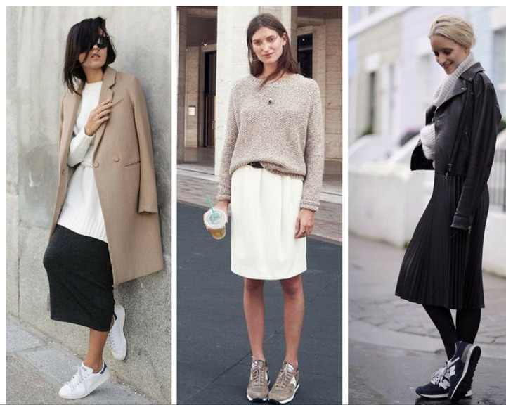Easy Outfit Formula: Sneakers & Skirts – Closetful of Clothes