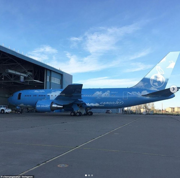 Pricey:The stunning aircraft is reportedly a 767-300F Boeing plane mode which is estimated to cost around £200 million (£145,761,971)