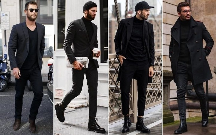 Buy all black outfit mens casual> OFF-75%