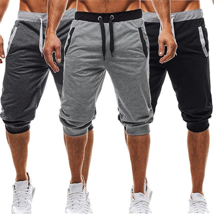 BBYES Summer Men Casual Sweatpants Shorts 3/4 Trousers Short Fitness  Clothing Bodybuilding Men Shorts Summer Men Clothing New