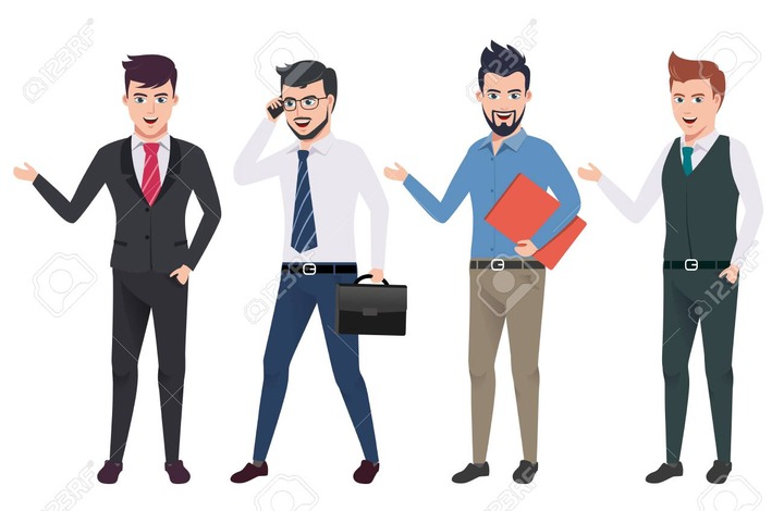 Business Man Vector Characters Set With Professional Male Office And Sales  Person Wearing Business Attire In Different Gestures And Postures. Vector  Illustration. Royalty Free Cliparts, Vectors, And Stock Illustration. Image  104537084.
