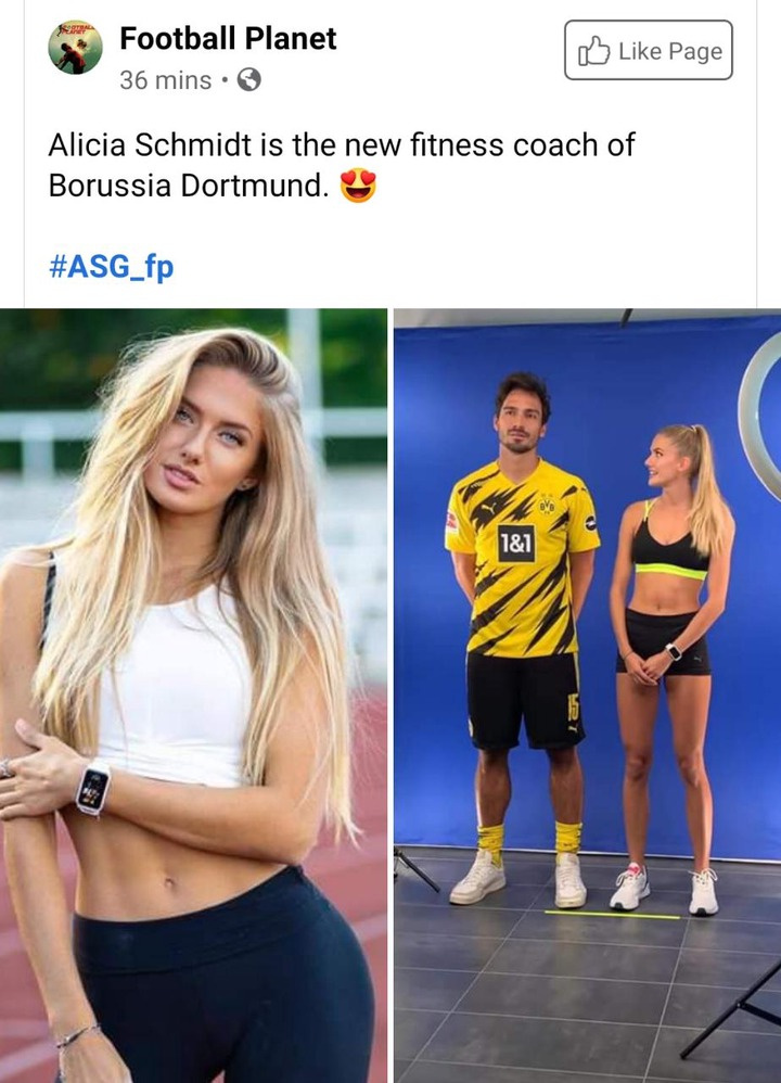See Pictures Of 21 Year Old Borrusia Dortmund Fitness Trainer That Is Making Waves On The Internet Opera News