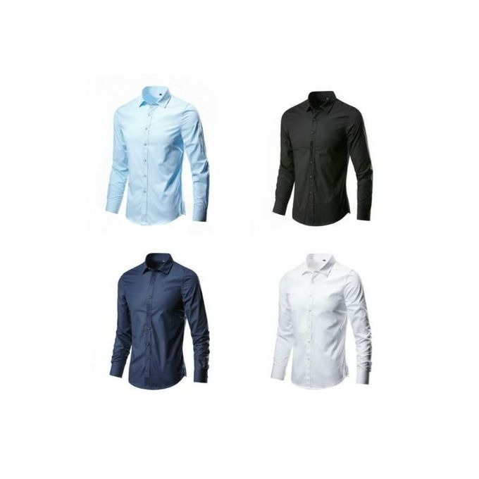 Fashion Quality Four In One Smart And Fitted Corporate Plain Shirts - Multi  Color | Jumia Nigeria