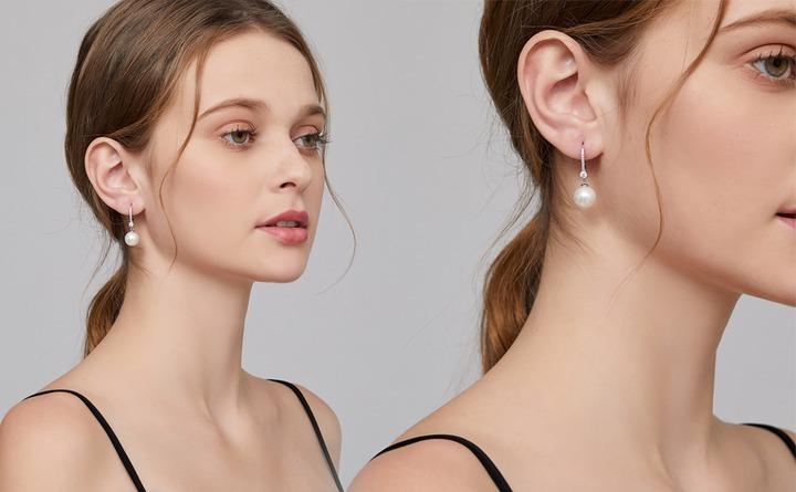 Pearl Dangle Earrings, Han han Pearl Earrings for Women Sterling Silver  Pearl Drop Earrings Freshwater Cultured Pearl Earrings Leverback Pearl  Earrings Dangle Pearls Earrings Women Hypoallergenic Drop Pearl Earrings  10MM : Amazon.ca: