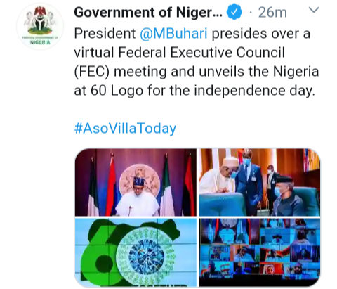 Independent Day: See The New Logo Unveiled by President Mohammadu Buhari  For Nigeria 60th Birthday - Opera News