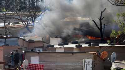 A fire broke out in a shack in <a class=