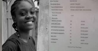 Krobo Girls' student who got 4As & 4Bs in WASSCE in 2019 Still home for lack of Money