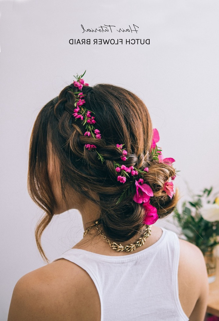 2017 Braids And Flowers Hairstyles Inside Wedding Hair Braided Flowers Nice Wedding Hairstyles Braids Flowers (View 1 of 15)