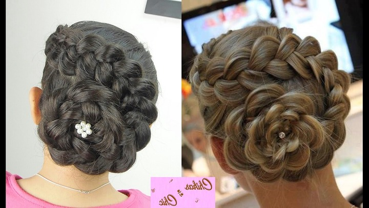 Braided Wedding Hairstyles With Flowers – Youtube Regarding Well Known Braids And Flowers Hairstyles (View 2 of 15)
