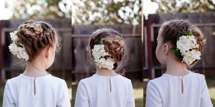Braiding: The Half Up Flower Braid Regarding Most Current Braids And Flowers Hairstyles (View 3 of 15)