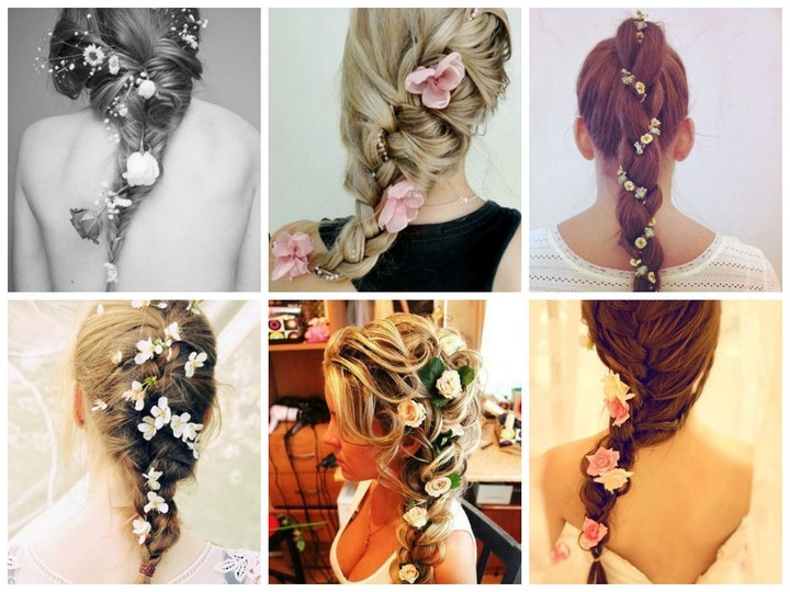 Famous Braids And Flowers Hairstyles Intended For Braids With Flowers (View 5 of 15)