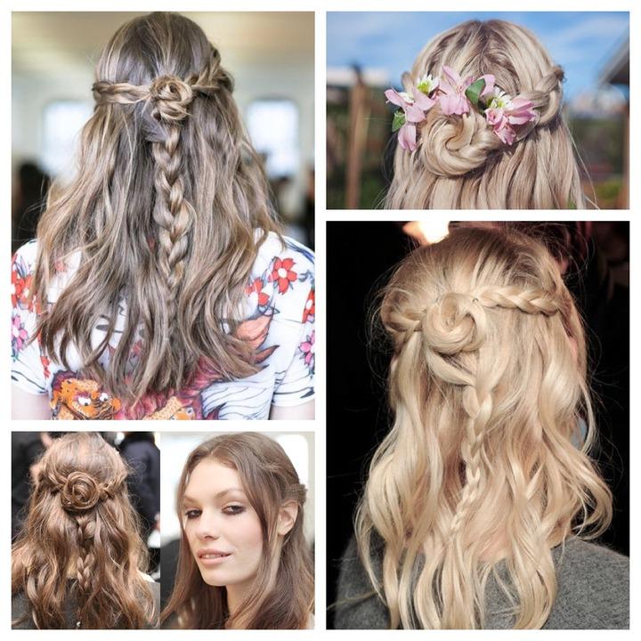 Flower Braid Hair Tutorial – Youtube Regarding Well Liked Braids And Flowers Hairstyles (View 9 of 15)