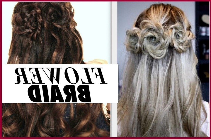 Half Up Prom Hairstyles – Youtube With Regard To Fashionable Braids And Flowers Hairstyles (View 11 of 15)