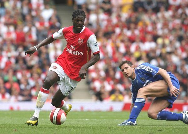 Emmanuel Adebayor (Arsenal) Frank Lampard (Chelsea) (Print #462318)