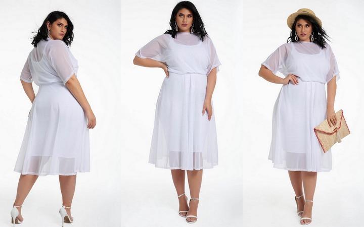 white dress size 20 cheap online
