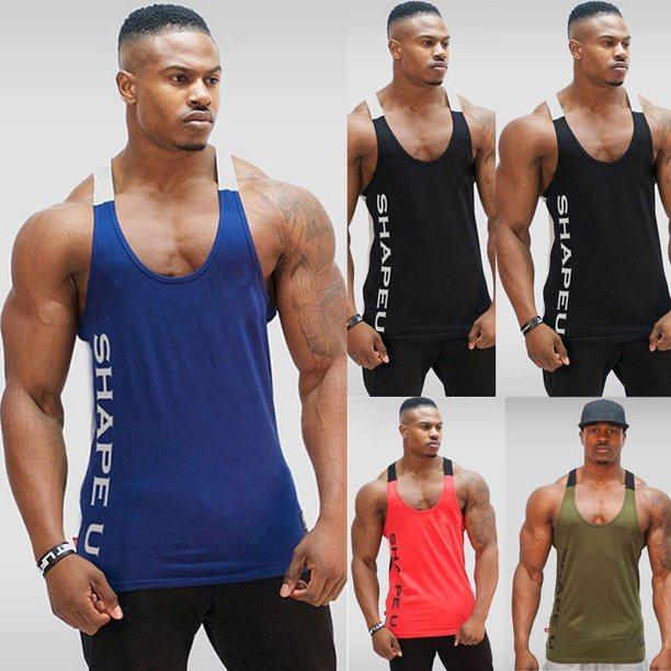 Hirigin Mens Gym Singlet Sleeveless Muscle Vest Stringer Bodybuilding Tank  Tops - Walmart.com