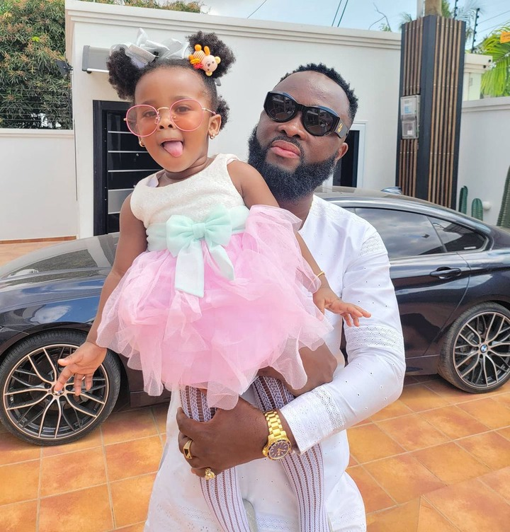 Baby maxin shares adorable moments with her father in new photos. 4